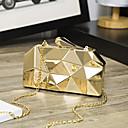 baratos Clutches & Bolsas de Noite-Mulheres Bolsas PU Bolsa de Festa Metálico Sólido Dourado / Prata / Cinzento Prateado