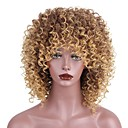 cheap Synthetic Capless Wigs-Synthetic Wig Kinky Curly With Bangs Synthetic Hair African American Wig Brown Wig Women's Short Capless Strawberry Blonde / Medium Auburn