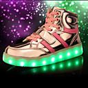 olcso Fiú cipők-Fiú Cipő Lélegző háló Tavasz / Ősz Kényelmes / Újdonság / Világító cipők Tornacipők Fűző / LED mert Fekete / Piros / Kék