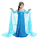 cheap Ice Skating Dresses , Pants & Jackets-Princess / Fairytale / Elsa Dress Christmas / Masquerade Festival / Holiday Halloween Costumes Blue Sequin Dresses Adorable