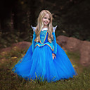 cheap Halloween & Carnival Costumes-Princess / Cinderella / Fairytale Dress Christmas / Masquerade Festival / Holiday Halloween Costumes Blue / Pink Color Block Dresses / Mesh Adorable