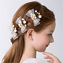 cheap Party Headpieces-Crystal / Imitation Pearl Flowers / Hair Clip / Hair Claws with Bowknot / Scattered Bead Floral Motif Style 3 Wedding / Party / Evening Headpiece