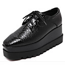 cheap Women's Oxfords-Women's Shoes PU(Polyurethane) Spring / Fall Comfort Oxfords Wedge Heel Black