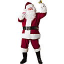 cheap Anime Cosplay Swords-Santa Suit Santa Claus Cosplay Costume Christmas Party Supplies Men's Christmas Christmas Halloween Festival / Holiday Polyester Red Carnival Costumes Patchwork
