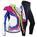 baratos Luminárias de Teto-Nuckily Mulheres Manga Longa Calça com Camisa para Ciclismo - Camuflado Geométrico Moto Camisa/Roupas Para Esporte Conjuntos de Roupas,