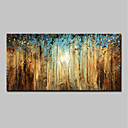 cheap Landscape Paintings-Oil Painting Hand Painted - Landscape Simple / Modern Canvas / Stretched Canvas