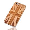 זול מגנים לטלפון & מגני מסך-מגן עבור iPhone 6s Plus / אייפון 6 פלוס / Apple iPhone 6 Plus עמיד בזעזועים כיסוי אחורי דגל קשיח במבוק ל iPhone 6s Plus / iPhone 6 Plus