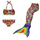 cheap Men's & Women's Halloween Costumes-The Little Mermaid Swimwear / Bikini Christmas / Masquerade Festival / Holiday Halloween Costumes Rainbow Rainbow Mermaid and Trumpet