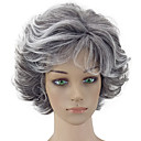 cheap Totes-Synthetic Wig Curly Layered Haircut Synthetic Hair Gray Wig Women's Short Capless Grey