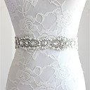 cheap Party Headpieces-Silk Like Satin Wedding / Party / Evening Sash With Rhinestone / Crystal Women's Sashes