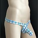halpa Miesten alusvaatteet ja sukat-Miesten G-stringin alusvaatteet - Skottiruutukuvio Paisley-kuvio, Painettu 1 Kappale Matala vyötärö
