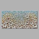olcso Virág festmények-Hang festett olajfestmény Kézzel festett - Virágos / Botanikus Modern Tartalmazza belső keret / Nyújtott vászon