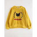 tanie Kurtki i płaszcze dla dziewczynek-Brzdąc Dla dziewczynek Kreskówki Solidne kolory / Geometric Shape Bawełna T-shirt