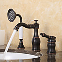 cheap Shower Faucets-Bathtub Faucet - Antique Traditional Oil-rubbed Bronze Widespread Ceramic Valve