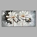tanie Obrazy: motyw roślinny/botaniczny-Hang-Malowane obraz olejny Ręcznie malowane - Kwiatowy / Roślinny Nowoczesny Brezentowy / Zwijane płótno