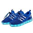 olcso Fiú cipők-Fiú Cipő Kötött Tavasz Világító cipők Tornacipők LED mert Fekete / Kék / Világoszöld