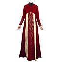 olcso RC cserealkatrészek, tartozékok-Arab öltözék Abaya Kaftan ruha Jalabiya Női Ethnic Style Ruhák és szoknyák Csipke Fesztivál / ünnepek ruhák Bíbor / Piros / Zöld Színes