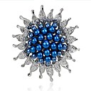 cheap Brooches-Women's Brooches - Imitation Pearl Flower Fashion Brooch White / Dark Blue / Blue For Wedding / Party