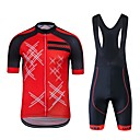 cheap Cycling Jerseys-Wisdom Leaves Short Sleeves Cycling Jersey with Bib Shorts - Red Bike Clothing Suits, Quick Dry