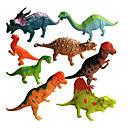 baratos Figuras de dinossauro-Dragões & Dinossauros Brinquedos de Montar Triceratops Figuras de dinossauro Dinossauro jurássico Animais Simulação Tamanho Grande Plástico Crianças Para Meninos Para Meninas Brinquedos Dom 8 pcs