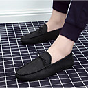 cheap Men's Slip-ons & Loafers-Men's Leatherette Spring / Fall Moccasin Loafers & Slip-Ons Black / Gray / Khaki