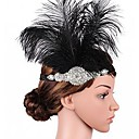 cheap Party Gloves-The Great Gatsby Flapper Headband 1920s Black Feather Cosplay Accessories Masquerade