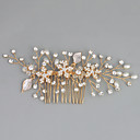cheap Party Headpieces-Imitation Pearl / Rhinestone / Alloy Hair Combs with Rhinestone / Crystal / Faux Pearl 1pc Wedding / Special Occasion Headpiece
