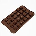 baratos Capinhas para Celular & Protetores de Tela-24 buraco rosa amor silicone molde de chocolate artesanal diy ferramentas de decoração do bolo