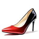 cheap Women's Heels-Women's PU(Polyurethane) Spring / Fall Comfort Heels High Heel Pointed Toe Gray / Red / Color Block