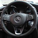 """זול שטיחים לפנים הרכב-כיסויים להגה עור אמיתי 38ס""""מ שחור / אודם / שחור / אדום For Mercedes-Benz E Class / כיתה / B200 כל השנים"""