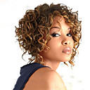 cheap Synthetic Capless Wigs-Synthetic Wig Women's Curly Blonde Synthetic Hair Ombre Hair / Highlighted / Balayage Hair / With Bangs Blonde Wig Medium Length Capless Black / Gold