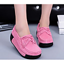 cheap Duvet Covers-Women's Shoes Nubuck leather Spring / Fall Comfort Loafers & Slip-Ons Creepers Fuchsia / Blue / Pink