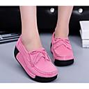 baratos Mocassins Femininos-Mulheres Sapatos Pele Nobuck Primavera / Outono Conforto Mocassins e Slip-Ons Creepers Fúcsia / Azul / Rosa claro