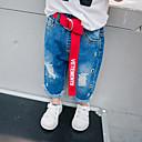 זול שמלות לבנות-ג'ינס צמר / כותנה / סיבי במבוק אחיד פשוט / וינטאג' בנים ילדים