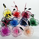 preiswerte Parykopfbedeckungen-Feder / Netz Fascinatoren / Blumen mit Blumig 1pc Hochzeit / Besondere Anlässe Kopfschmuck