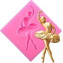 tanie Akcesoria do pieczenia-tancerz silikonowe formy do ciast dancing dziewczyna fondant dekorowanie narzędzia słodycze gliny