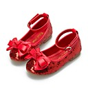 ieftine Pantofi Fetițe-Fete Pantofi Paillertte Primăvară / Toamnă Balerină / Pantofi Fata cu Flori Pantofi Flați Funde / Paiete / Bandă Magică pentru Rosu /