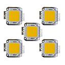 hesapli LEDs-5pcs 2400 lm Ampul Aksesuarı Pirinç LED Çip 30 W