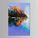 cheap Landscape Paintings-Oil Painting Hand Painted - Landscape Comtemporary Simple Modern Stretched Canvas