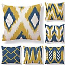 cheap Tool Sets-6 pcs Textile Cotton/Linen Pillow Cover, Plaid/Checkered Geometric Color Block