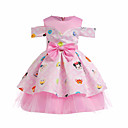 זול שמלות לבנות-שמלה שרוולים קצרים דפוס יום יומי בנות ילדים / כותנה / חמוד