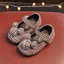 baratos Sapatos de Menina-Para Meninas Sapatos Flocagem Primavera Conforto / Primeiros Passos Rasos para Preto / Marron