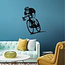 hesapli LED Ampuller-İnsanlar Spor Duvar Etiketler Uçak Duvar Çıkartmaları Dekoratif Duvar Çıkartmaları, Vinil Ev dekorasyonu Duvar Çıkartması Pencere Duvar