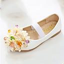 ieftine Pantofi Fetițe-Fete Pantofi PU Primăvară / Toamnă Confortabili / Noutăți / Pantofi Fata cu Flori Pantofi Flați Mărgele / Aplică / Bandă Magică pentru
