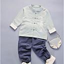 billige Sykkeljerseys-Baby Gutt Fritid Daglig Ensfarget Langermet Polyester Tøysett Grønn