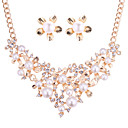 preiswerte Schmuckset-Damen Schmuck-Set - Künstliche Perle Blumen / Botanik, Blume Europäisch, Elegant Einschließen Gold Für Hochzeit / Party / Ohrringe