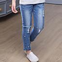 זול סטים של ביגוד לבנות-ג'ינס פרוות ארנב כותנה אביב סתיו יומי אחיד בנות פשוט פול