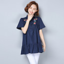 cheap Necklaces-Women's Sophisticated Chinoiserie Cotton Shirt - Embroidery Stand
