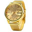 זול בגדים לכלבים-JUBAOLI בגדי ריקוד נשים שעון יד קווארץ זהב שעונים יום יומיים מגניב אנלוגי נשים - זהב לבן שחור