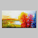 cheap Landscape Paintings-Oil Painting Hand Painted - Landscape Simple Modern Canvas